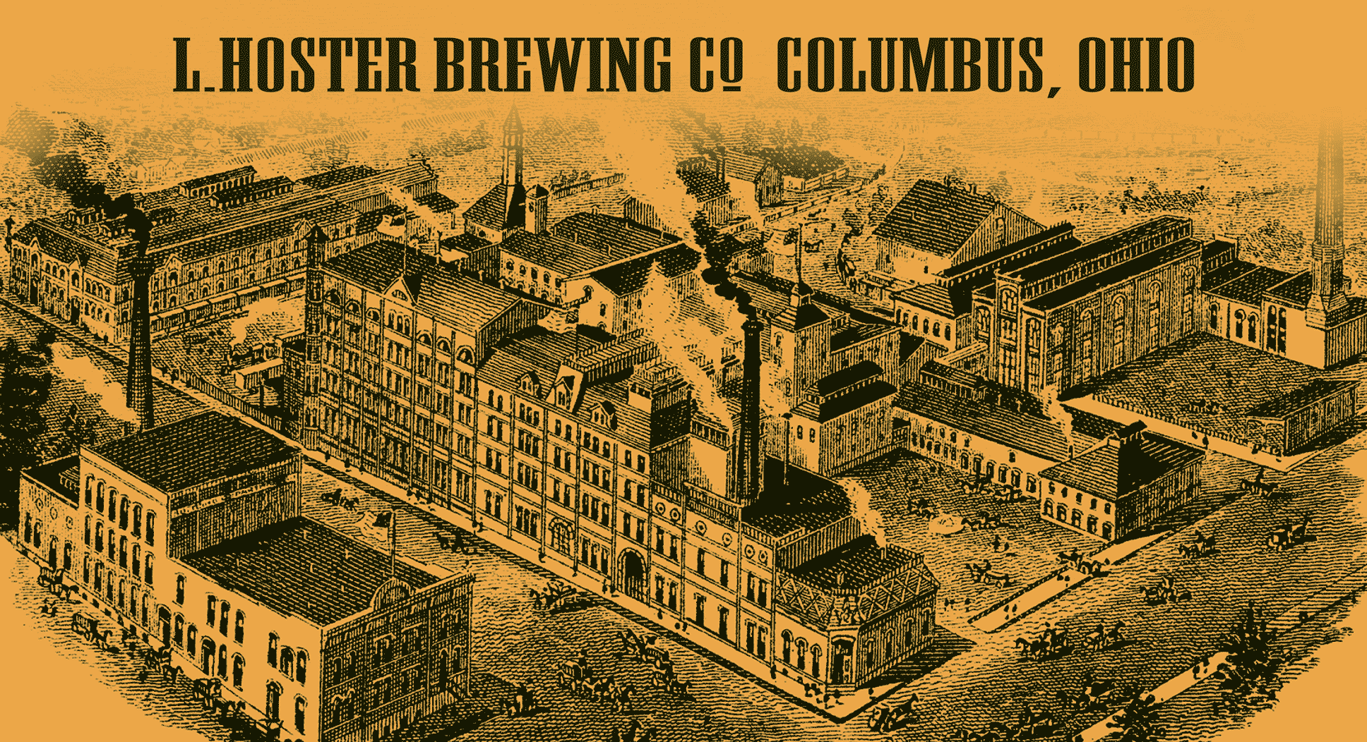 Engraving of Hoster Brewery
